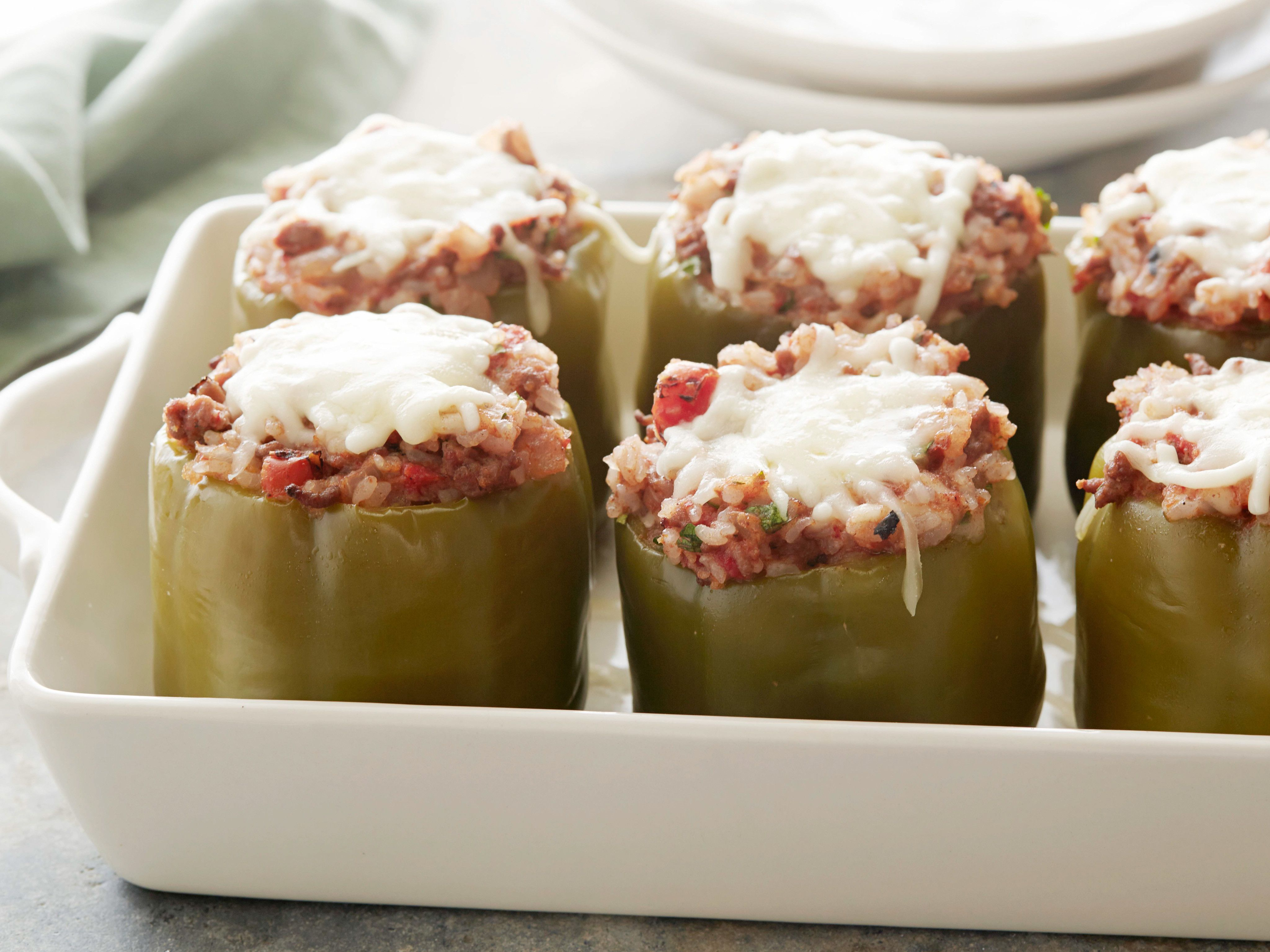 Stuffed Green Peppers Stuffed Peppers Food Network Recipes Recipes