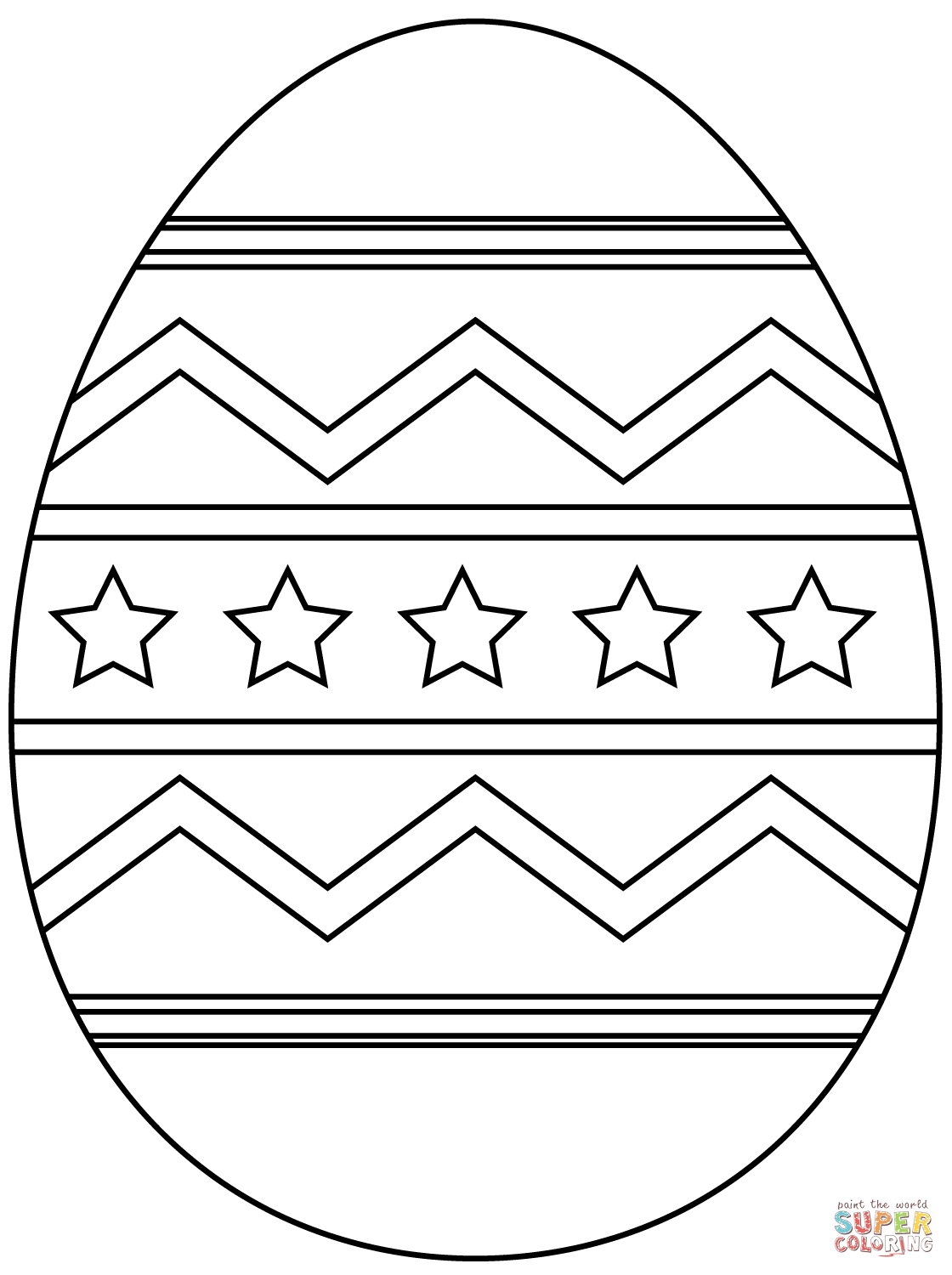 Easter Egg With Abstract Pattern
