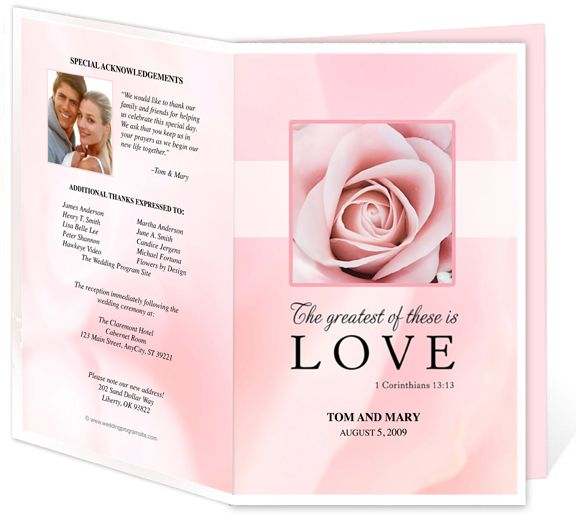Free Funeral Program Templates | ... Selection Of Wedding Program Templates  To Satisfy Every  Free Funeral Templates Download