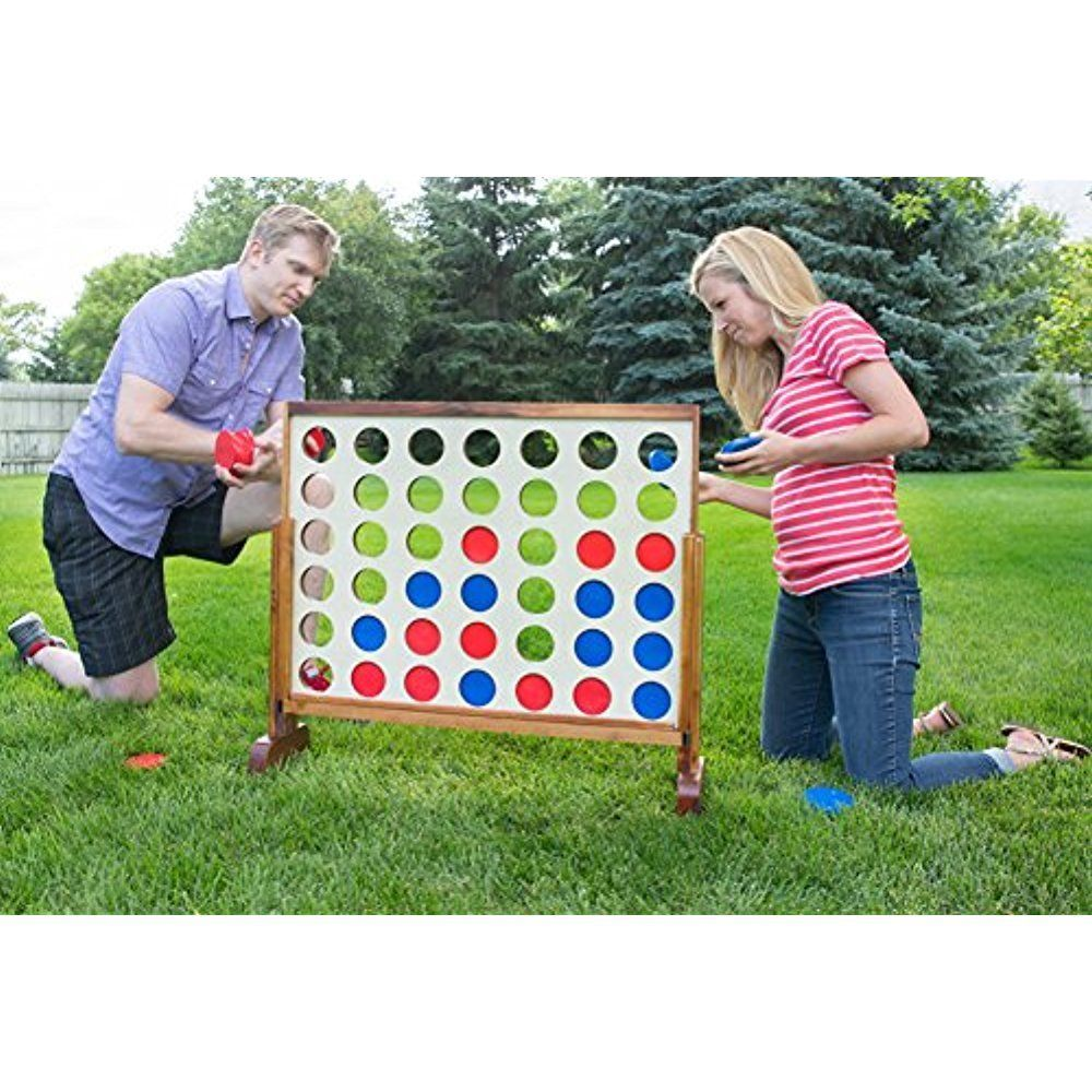 Giant 4 Connect In Row W Case Indoor Outdoor Board Kids Family