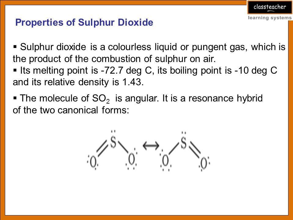 Image Result For Sulphur Dioxide Density Soul Soulfer Soulpher