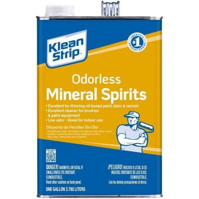 Klean Strip 1 Gal Odorless Mineral Spirits Gksp94006p The Home Depot Mineral Spirits Linseed Oil Staining Wood
