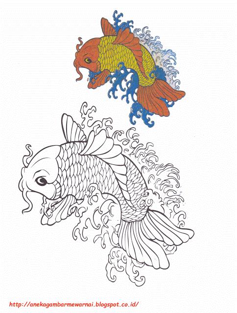 Aneka Gambar Mewarnai Gambar Mewarnai Ikan Koi Untuk Anak Paud Dan
