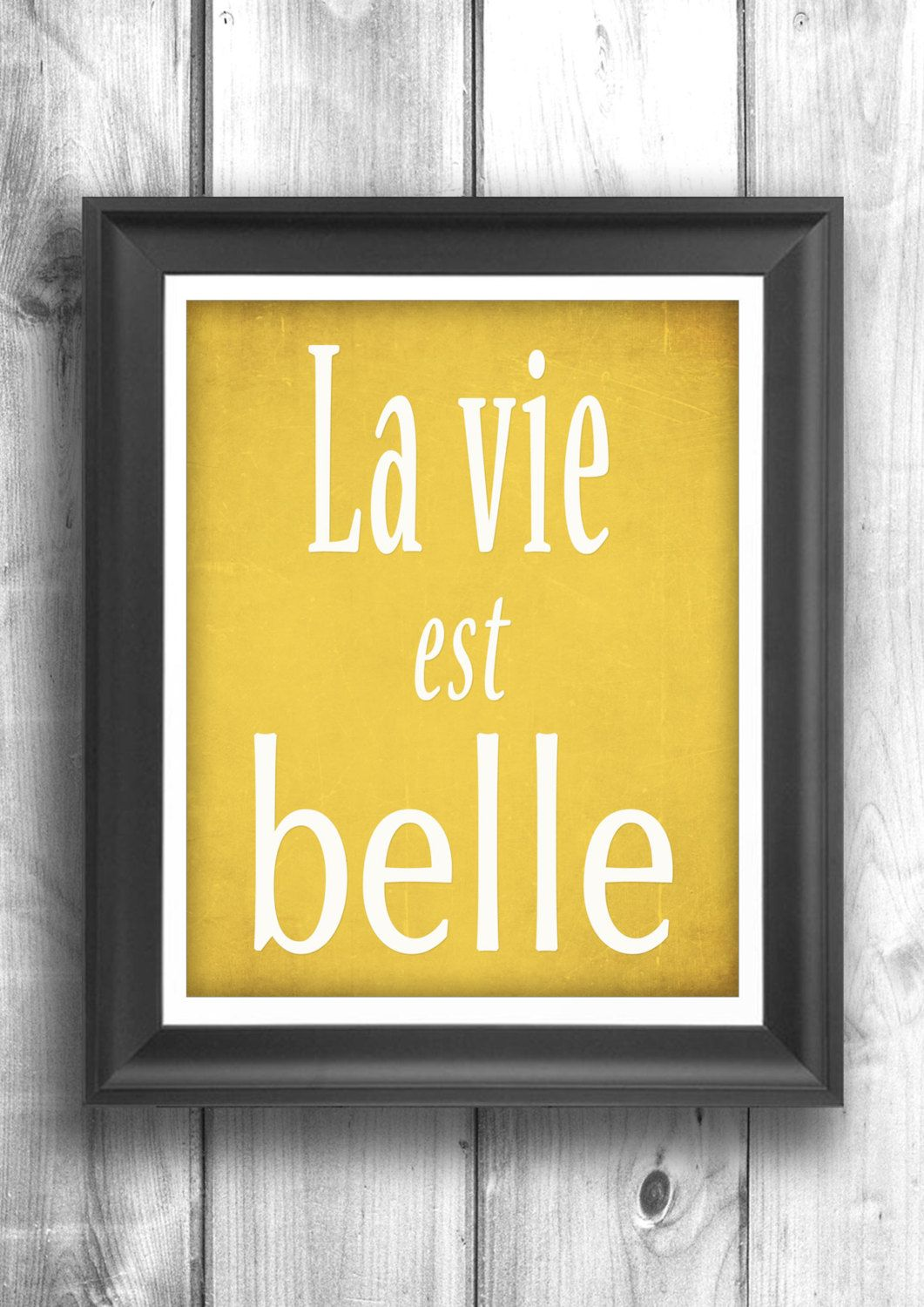 Life is beautiful typography poster French decor Paris wall art ...