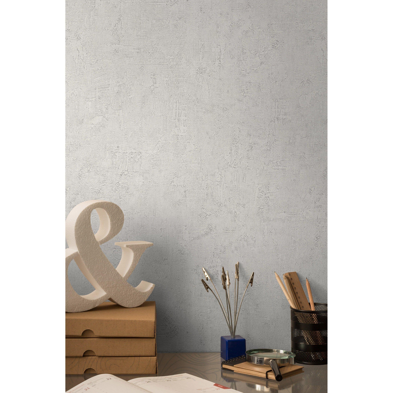 Decoller Papier Peint Intissé papier peint intissé patine blanc | papier peint, papier