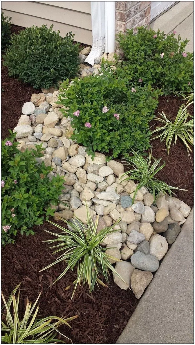 134 Simple But Effective Front Yard Landscaping Ideas On A Budget Page 23 Homeinspirations In 2020 Rock Garden Landscaping Front Yard Flowers Backyard Landscaping