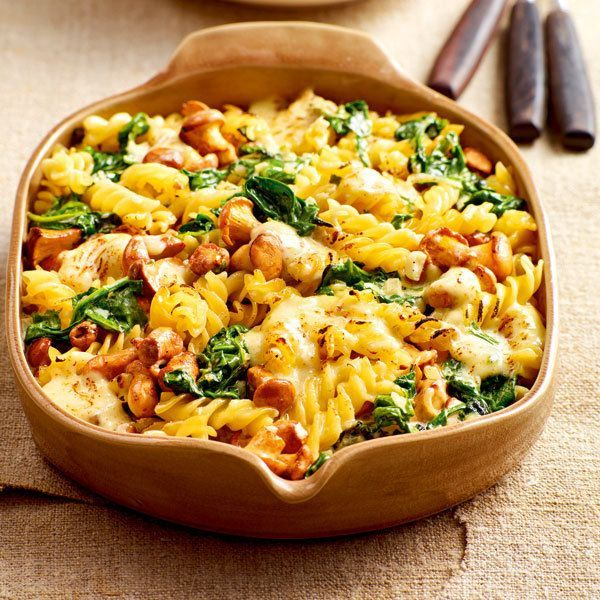 Photo of Pasta bake with spinach and chanterelles