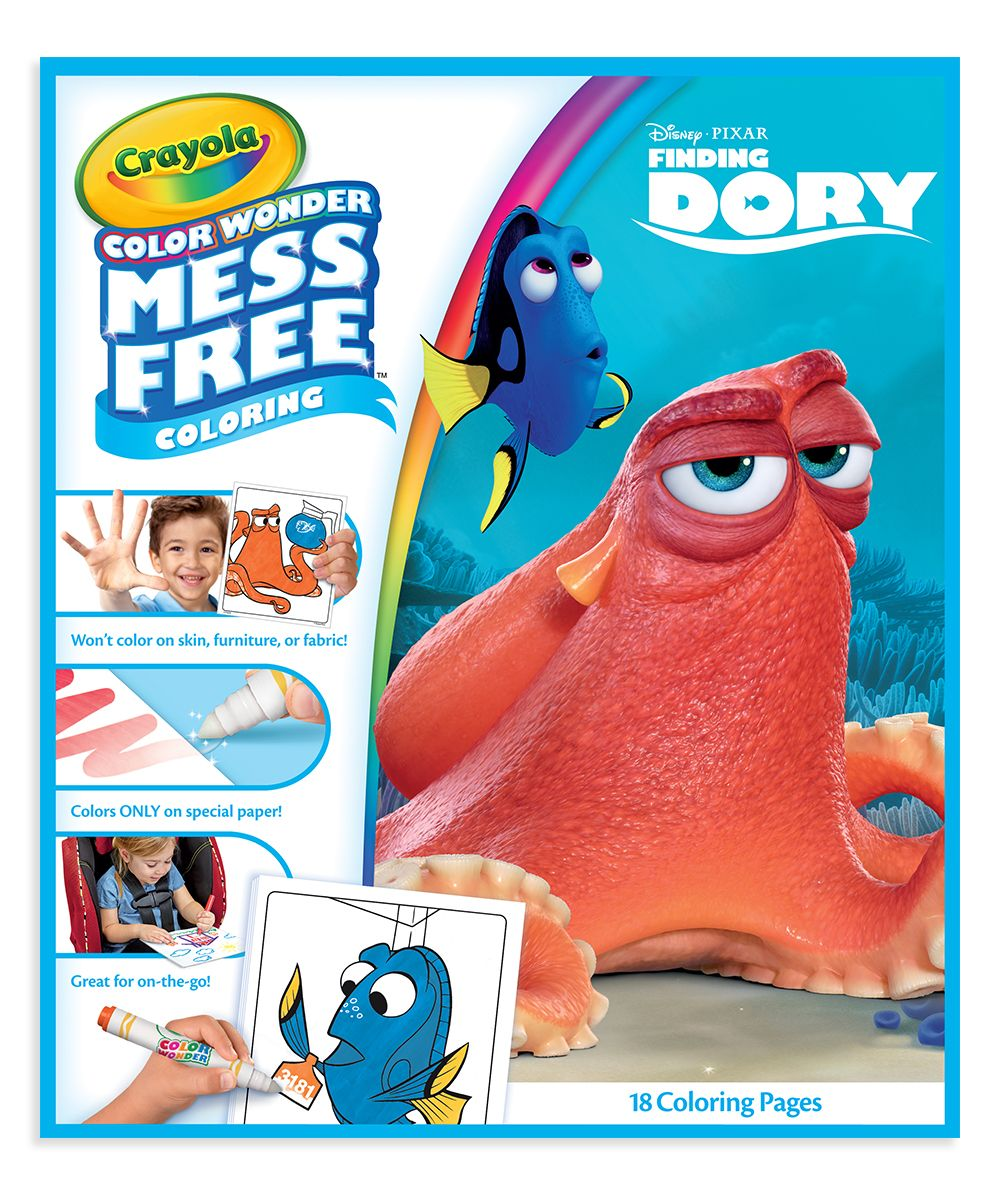 Finding Dory Color Wonder Mess-Free Coloring Pages & Markers
