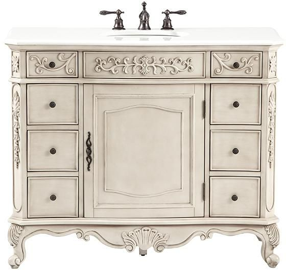 Home Decorators Collection Winslow 45 In W Bath Vanity In Antique