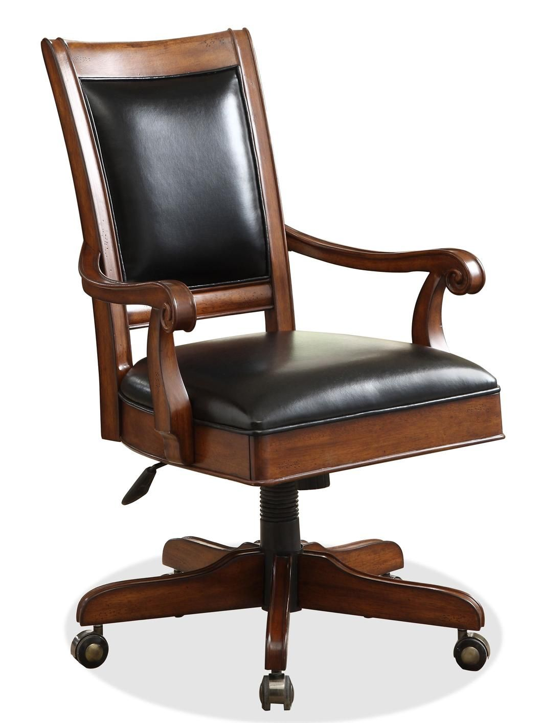 Wood And Leather Desk Chair Stuhlede Com Wood Desk Chair Riverside Furniture Wood Office Chair