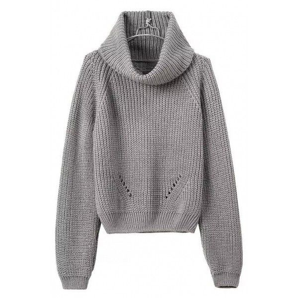 Fancy Pullover Turtle Neck Knit Crop Sweater OASAP.COM (40 AUD ...