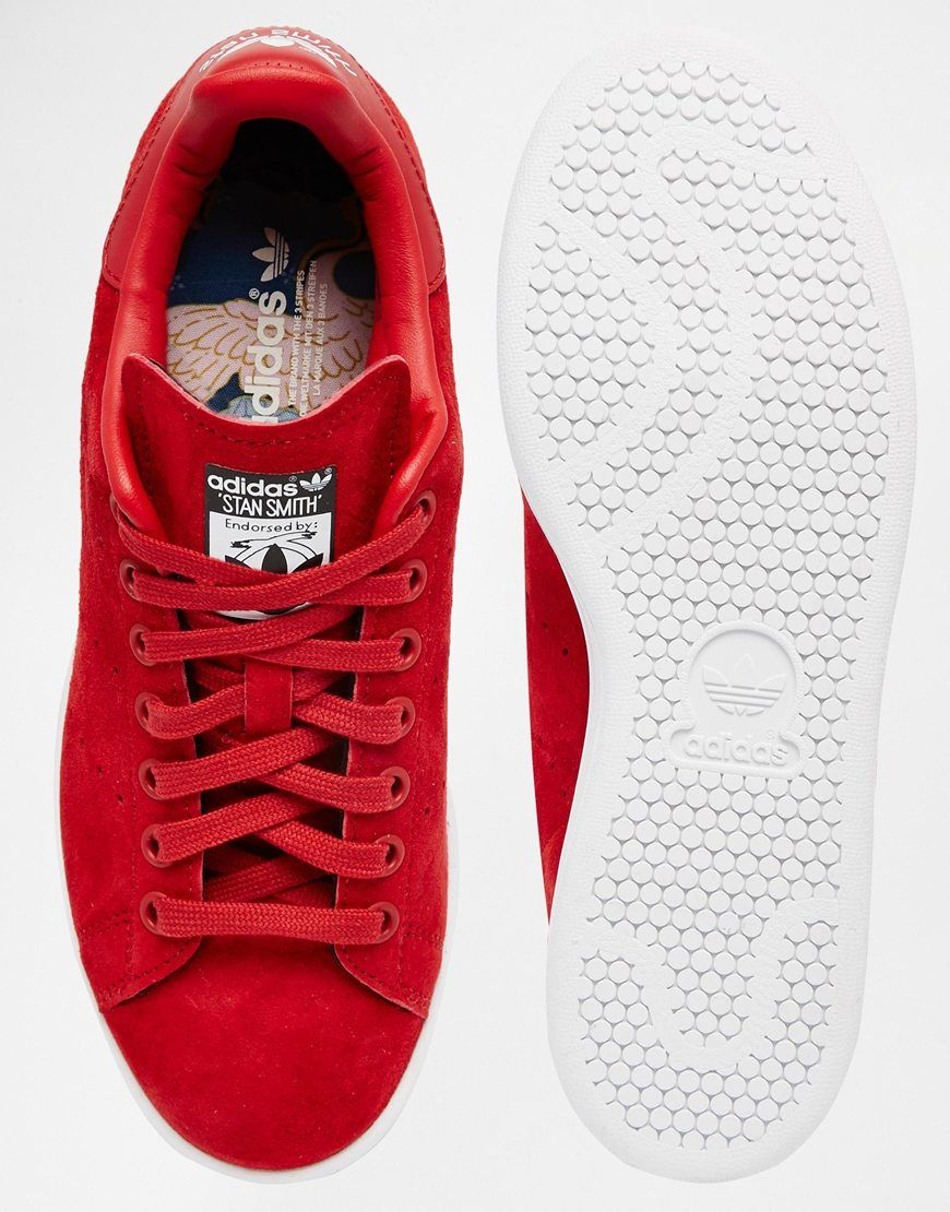 buy online c1ed3 92b71 Image 3 of adidas Originals X Rita Ora Red Stan Smith Sneakers