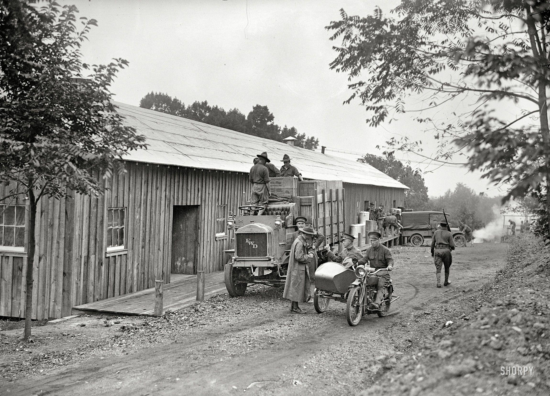 """arlington virginia 1917 """"u s army motorcycle and sidecar at"""
