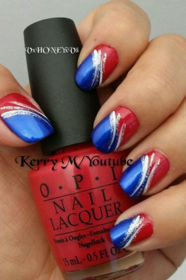 July 4 nails | nails | Pinterest | Gymnastics suits, Gymnastics and ...