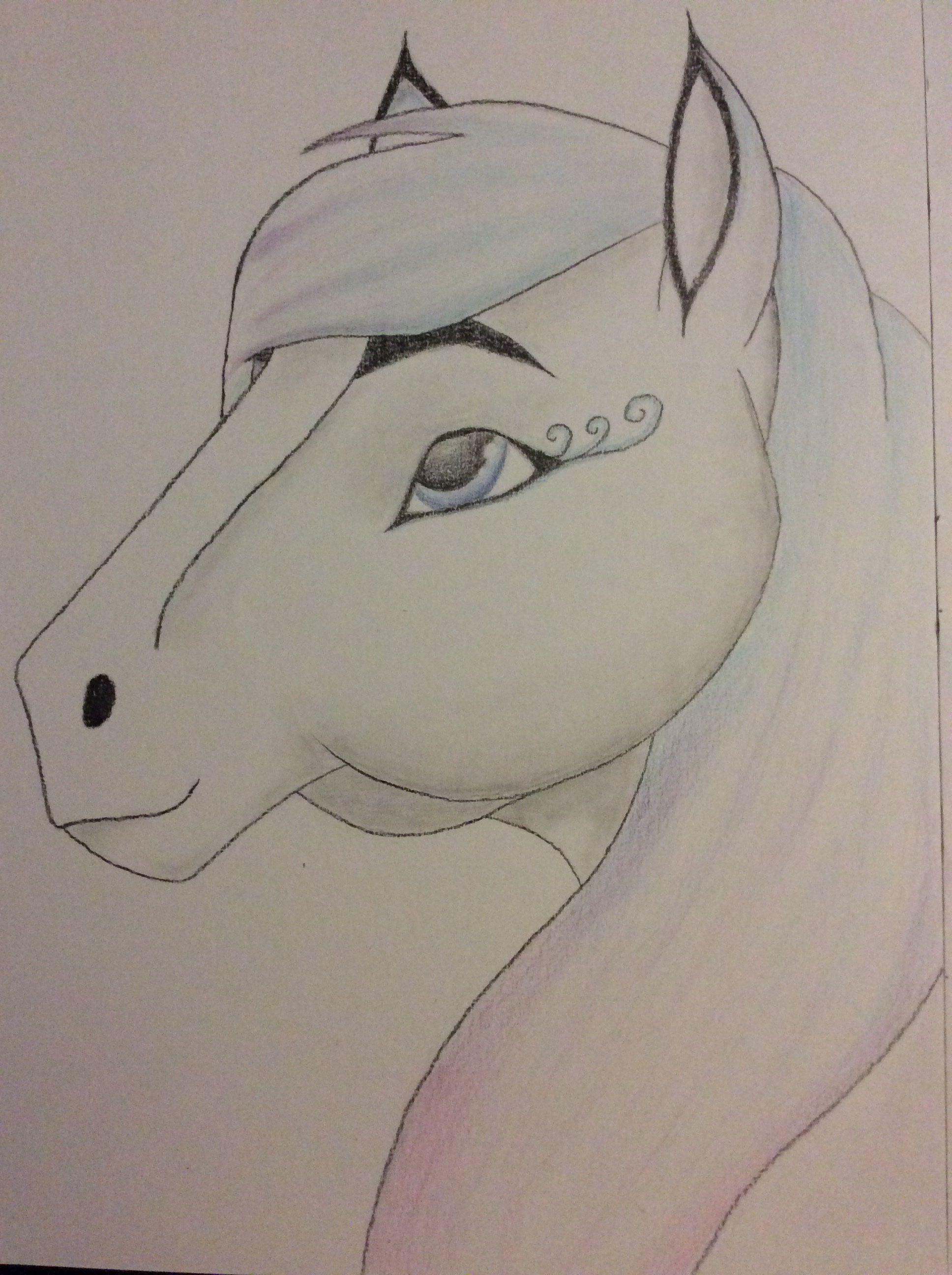Hedendaags Leuk fantasie paard om na te tekenen. (met afbeeldingen VU-42