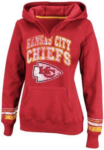 official photos d7a46 239ff Amazon.com: NFL Womens Kansas City Chiefs Pull-Over Hooded ...