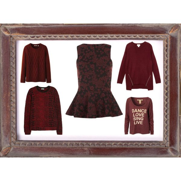 """""""Burgundy tops"""" by clothes-cm on Polyvore"""