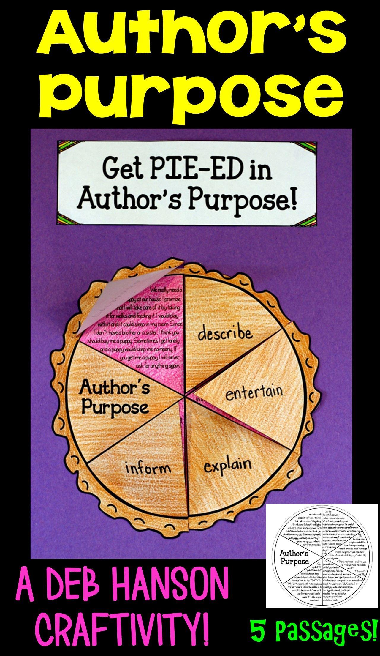 Author S Purpose Craftivity Pie Ed