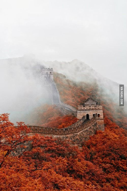 Fall At The Great Wall Great Wall Of China Beautiful Places