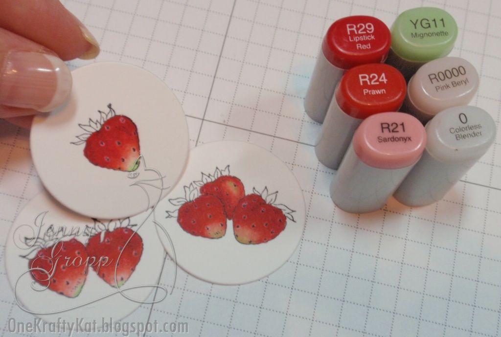 12 Strawberries Premade PAPER Die Cuts//Scrapbook /& Card Making