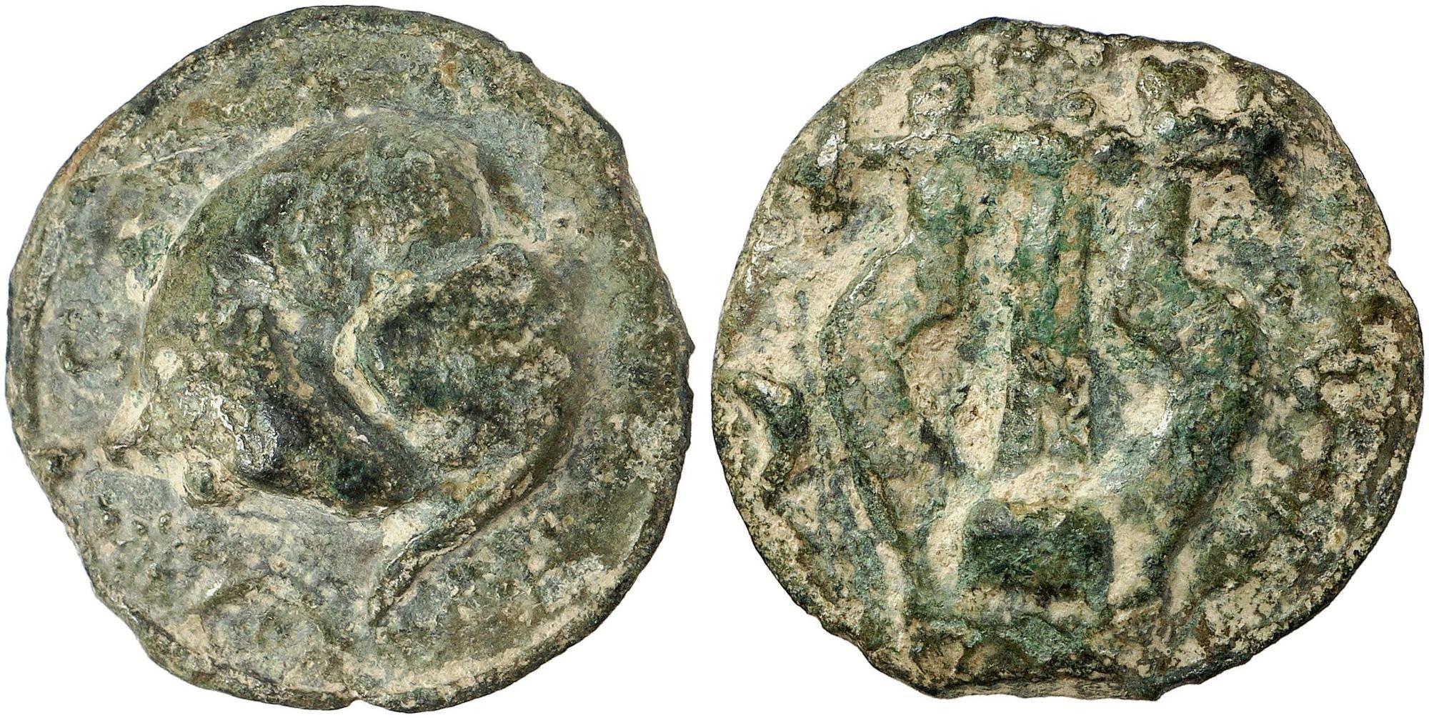Griechische Münzen Umbria Tuder æ Semis 220200 V Chr 2838 G