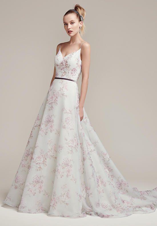 Tendance Robe du mariage 2017/2018 - Floral printed chiffon full A ...
