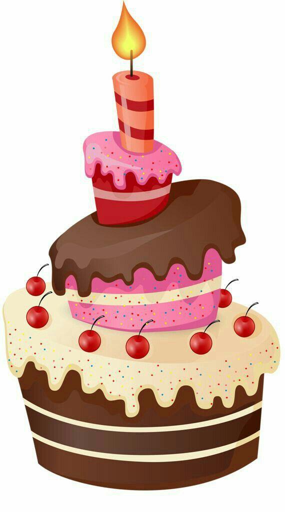 Pin By Conra On Monika Birthday Clipart Cupcake Birthday Cake Happy Birthday Cakes