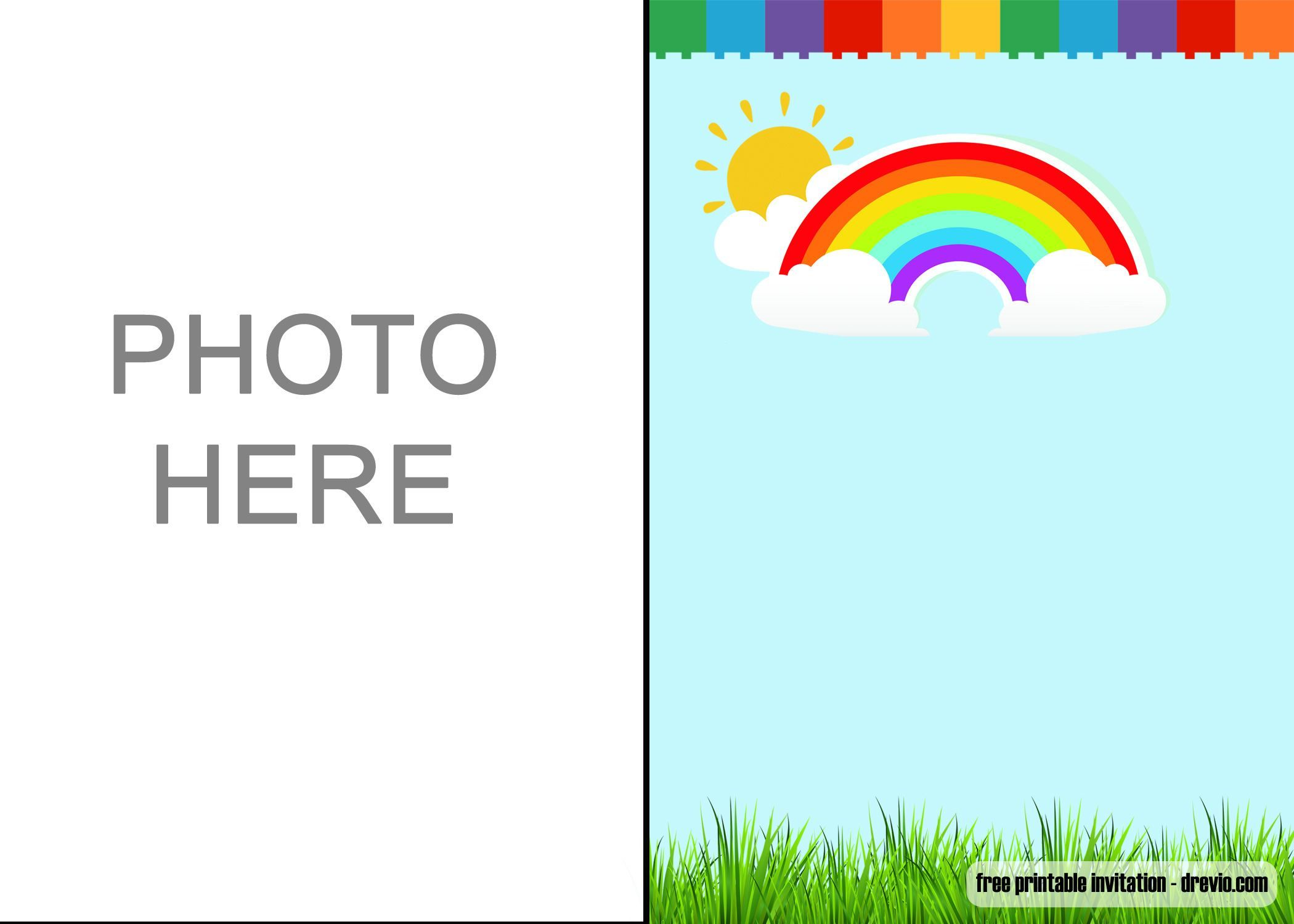 Free Download Rainbow Party Invitations | Rainbow party ...