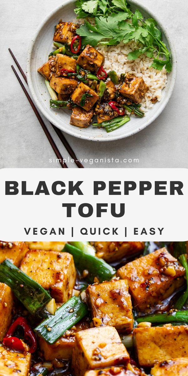 Black Pepper Tofu (Addictingly Delicious) - The Simple Vegansita
