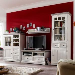 Hochwertig Wohnwände Müssen Nicht Immer Modern Sein   Das Beweist Uns Eindrucksvoll  Dieses Weiße Set Im Vintagelook