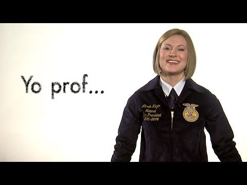 Got an FFA event coming up? Be a PRO about getting your schedule set with teachers it may affect. Abrah Meyer is the 2015-16 National FFA Central Region VP from Iowa. #FFAo2o