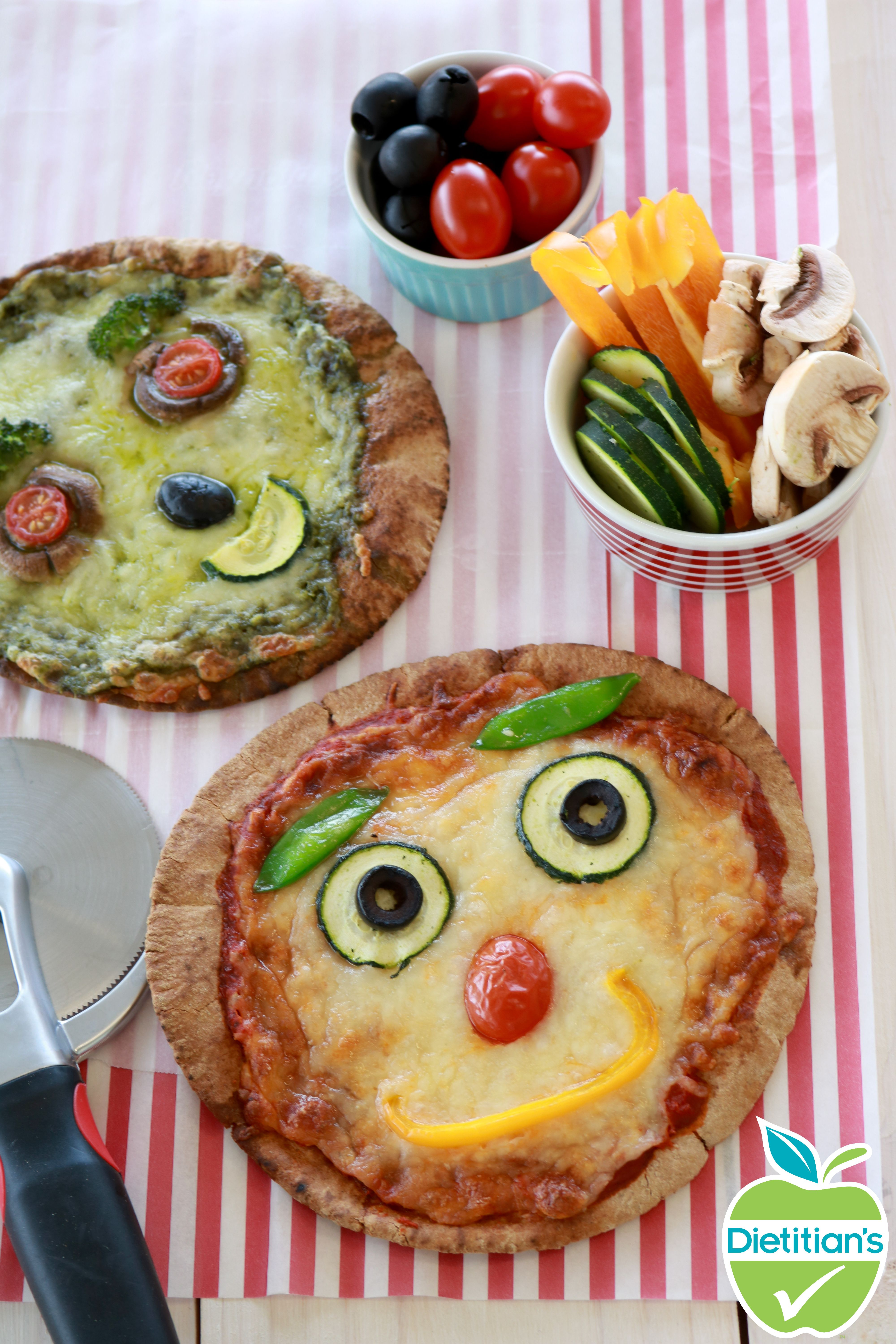 The Kids Will Love This Healthy Alternative To Pizza Let Them Get Creative And Decorate Their Own Pizza With A Ingredients Recipes Kid Approved Meals Cooking