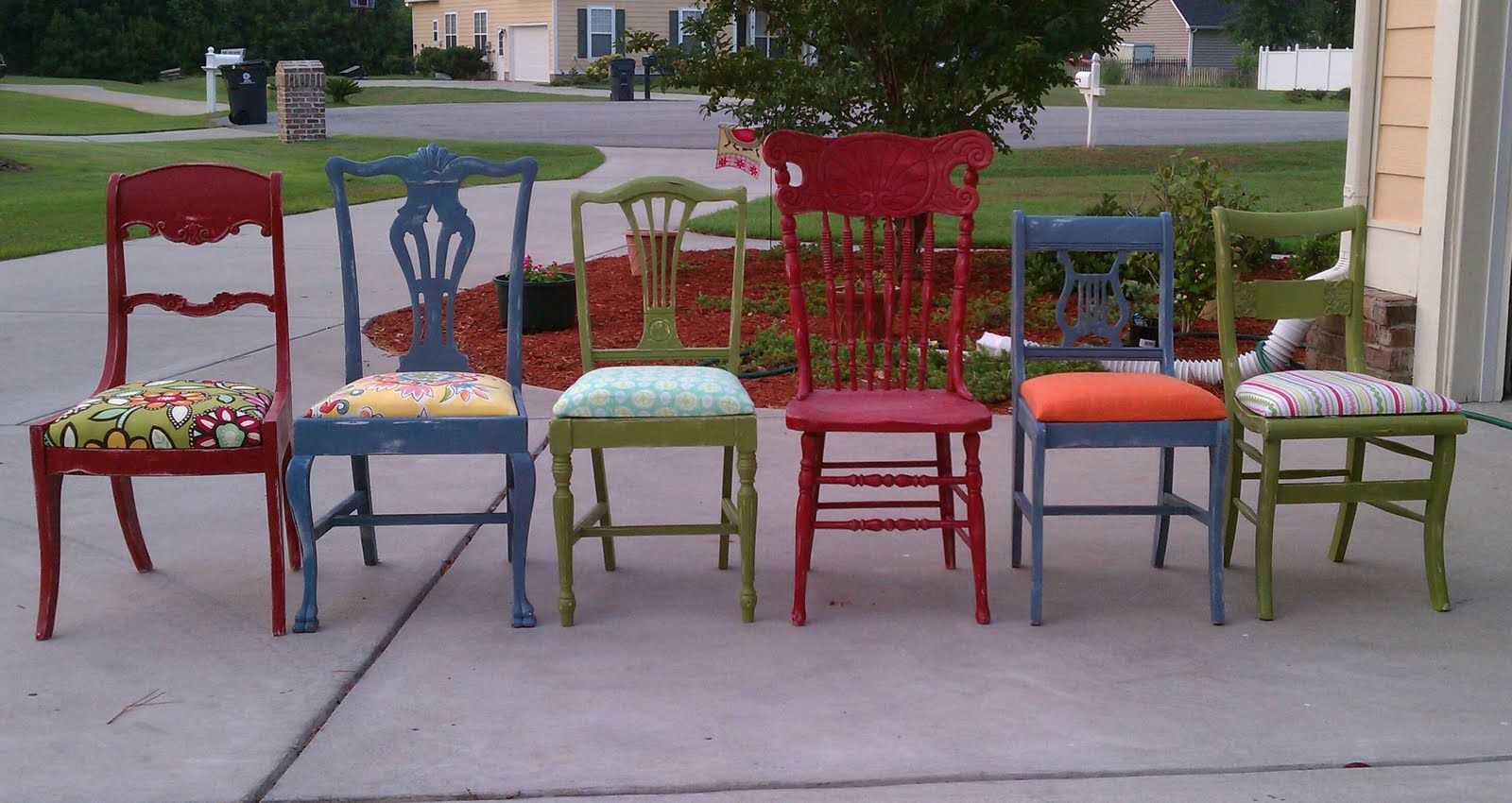 Feature Friday! A surprise MAKEOVER! | Mismatched chairs, Mismatched ...