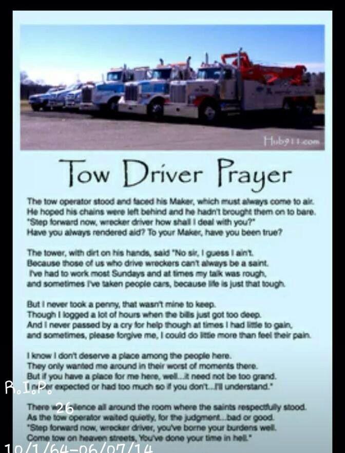 tow truck driver prayer