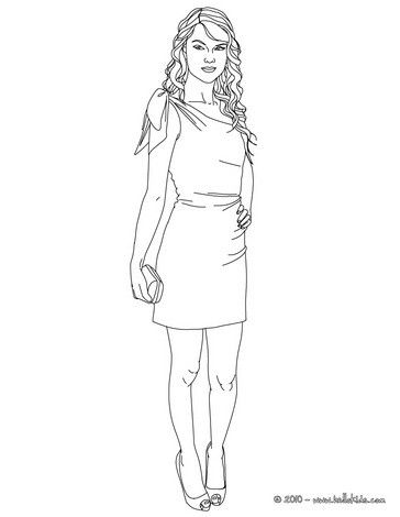 Taylor Swift face view coloring page. More Taylor Swift content on ...