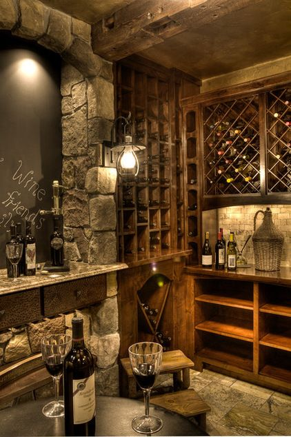 Lands end development rustic wine cellar by lands end - Small wine cellar ideas ...