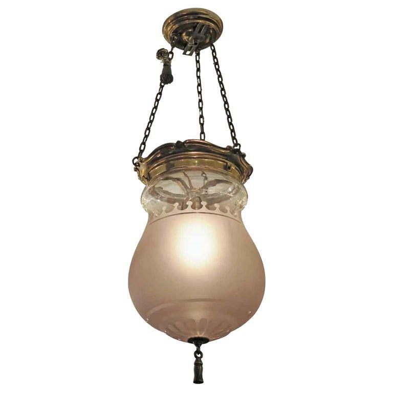 1931 Nyc Waldorf Astoria Hotel Frosted Glass Ef Caldwell Pendant Bell Jar Light Jar Lights Astoria Hotel Chandelier Pendant Lights