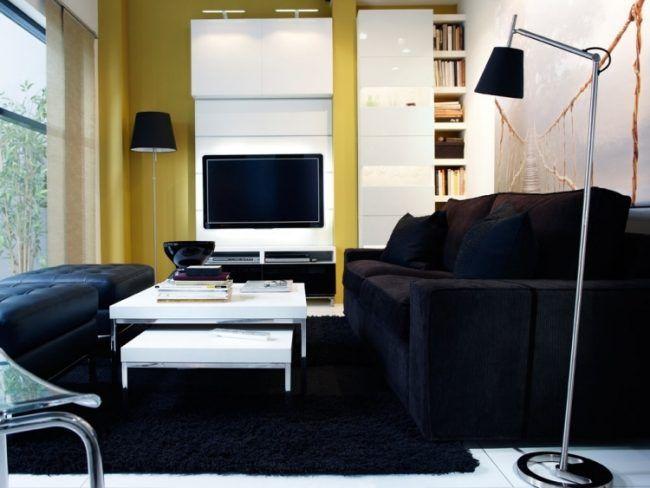 Schöne Einrichtungsideen für Wohnzimmer mit Fernseher | Wohnzimmer ...