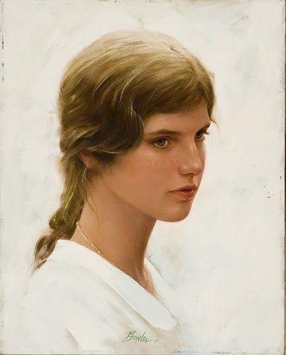 Portrait Of Young Caroline Kennedy By Joe Bowler Art