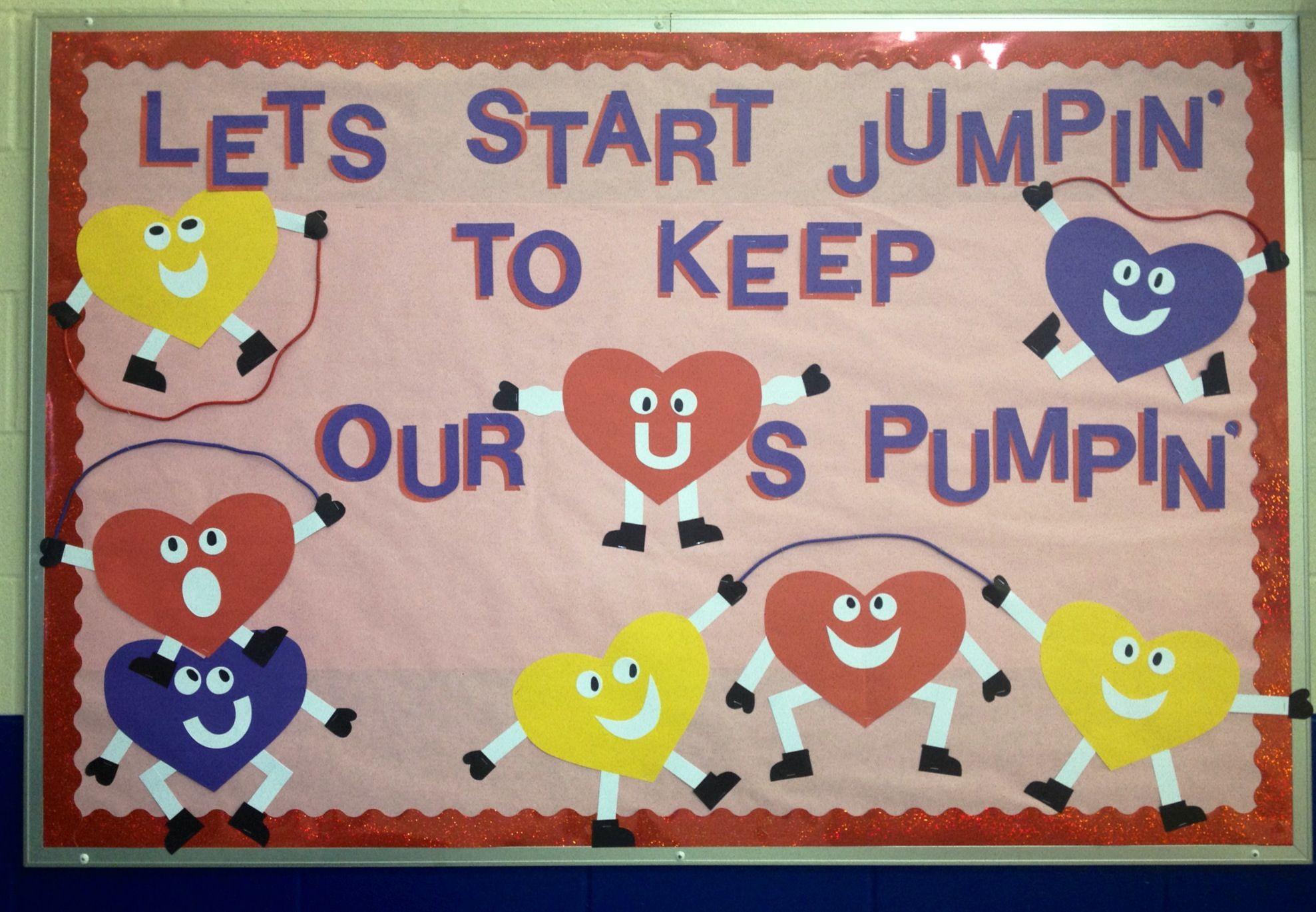 Jump Rope Heart Bulletin Board School