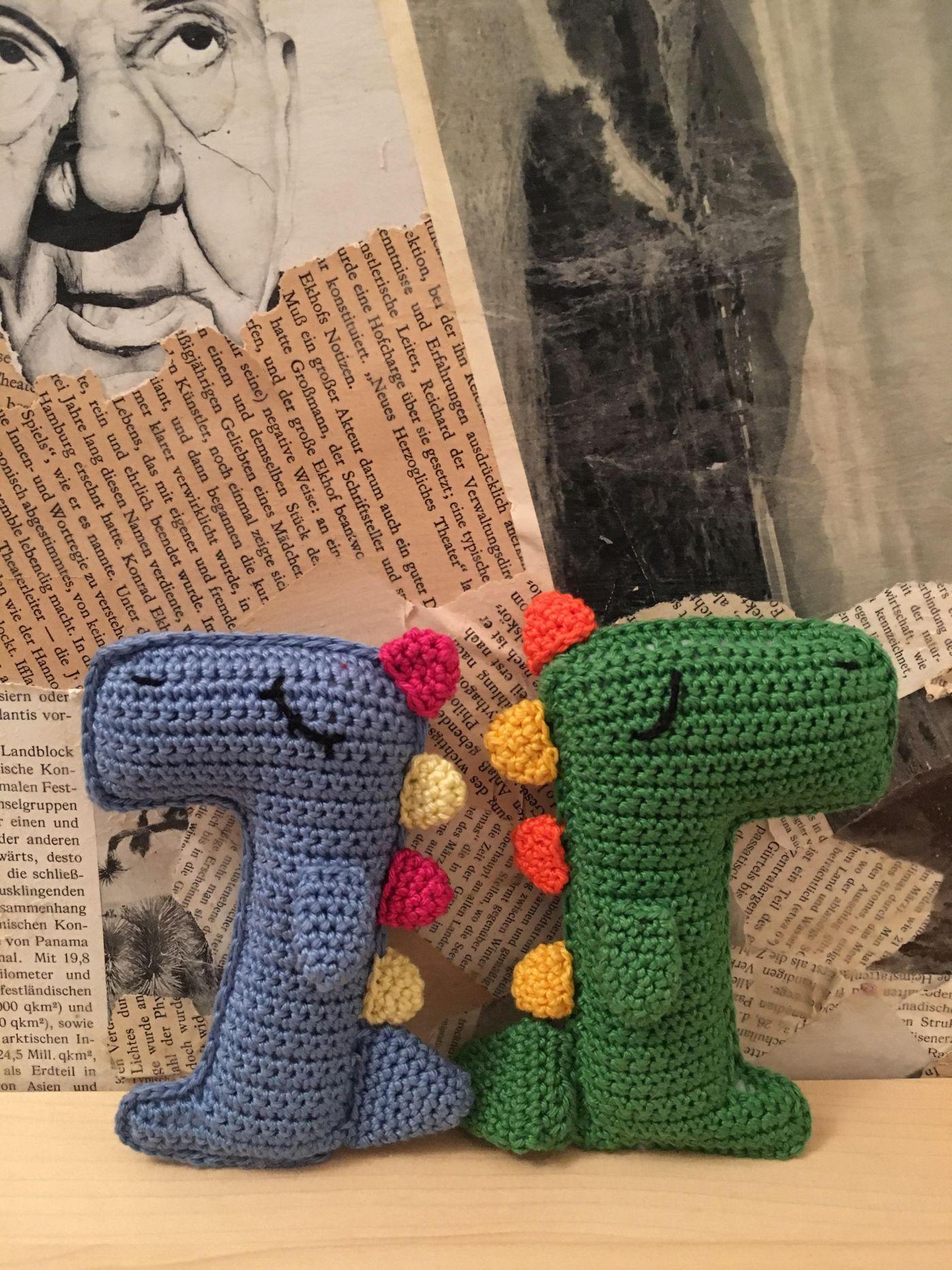 Dimitri, der Dino – German and English pattern – Marblerie | Crochet ...