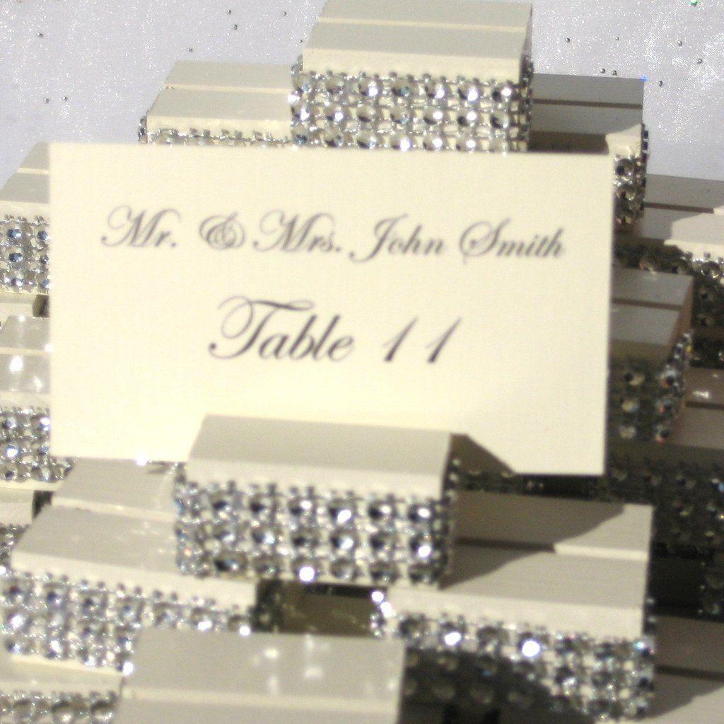 Place Card Holder + Ivory Rhinestone Wedding Place Card Holder ...