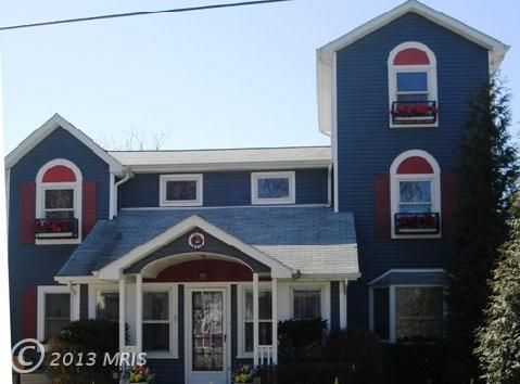 Interesting shaped house for sale on the Chesapeake