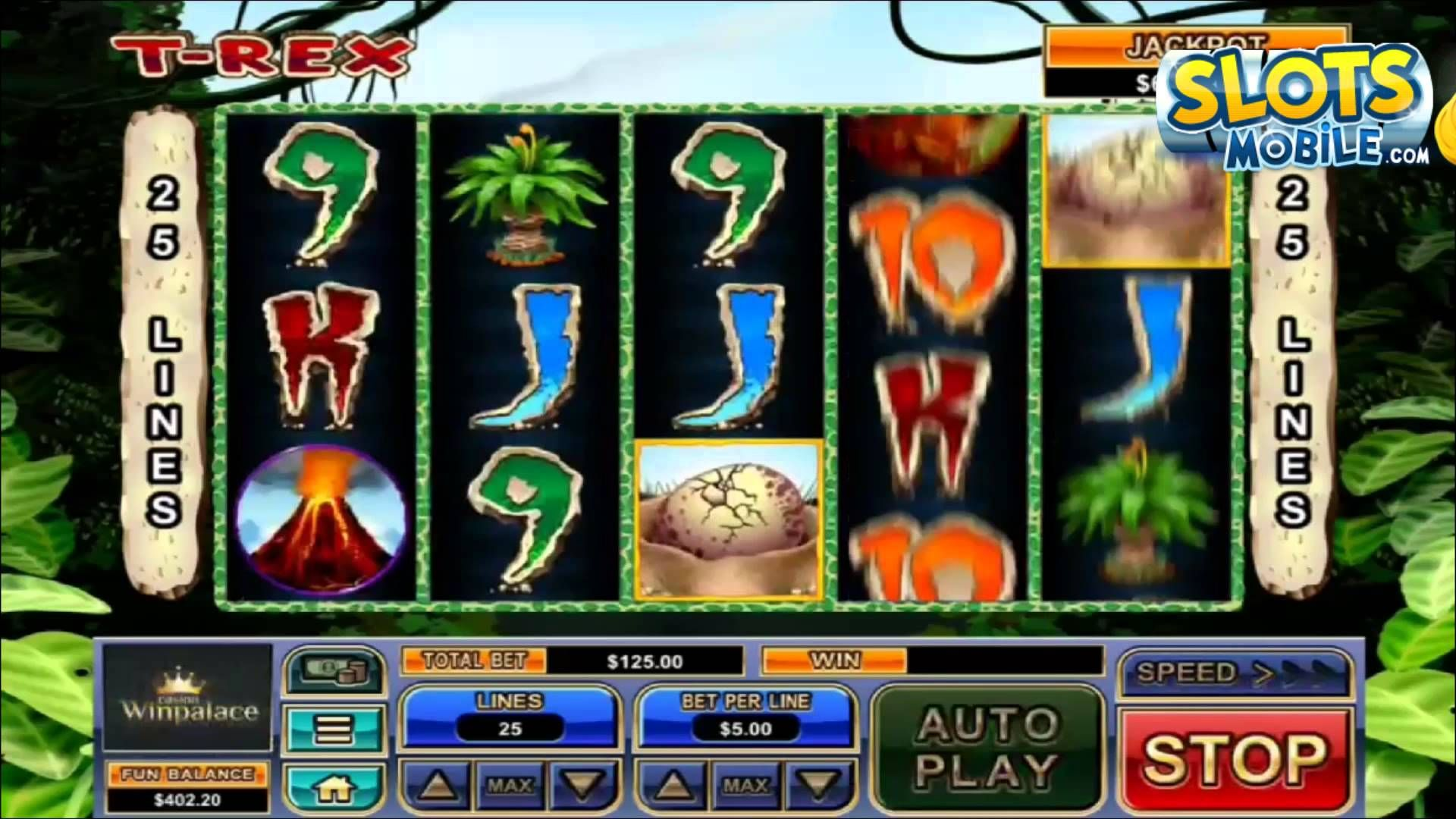 Here's a video review of TRex mobile slots from Real Time