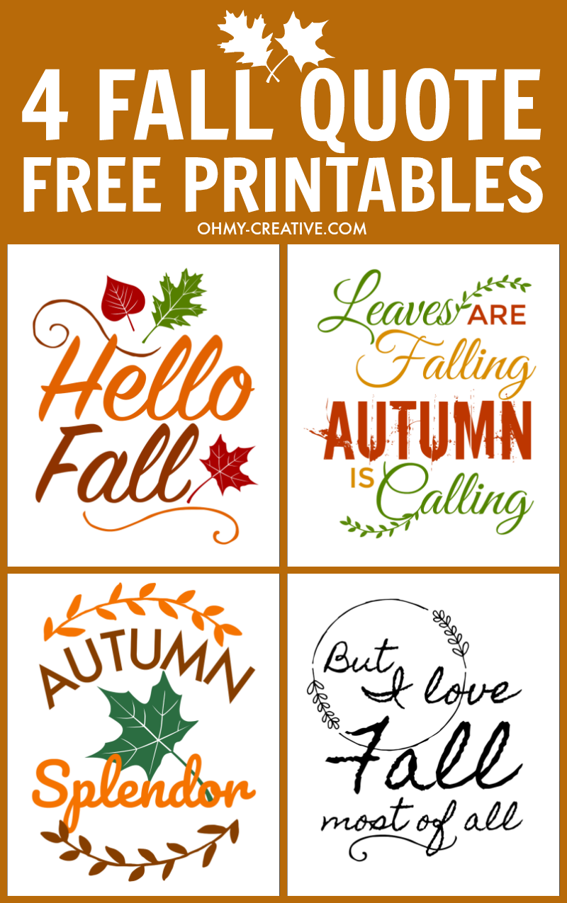 Fall Quotes Free Printables For Autumn Fall Pinterest Fall