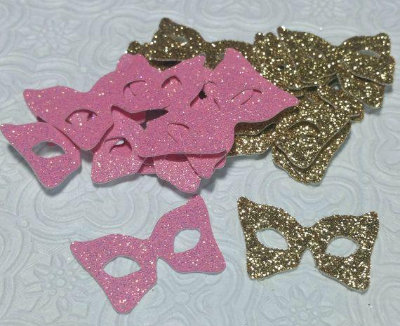 Masquerade Mask Table Decorations Brilliant Pink And Gold Masquerade Mask Confetti Anniversary Wedding Decorating Design