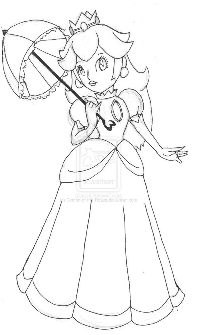 Coloriage princesse peach colorier dessin imprimer - Princesse a colorier ...