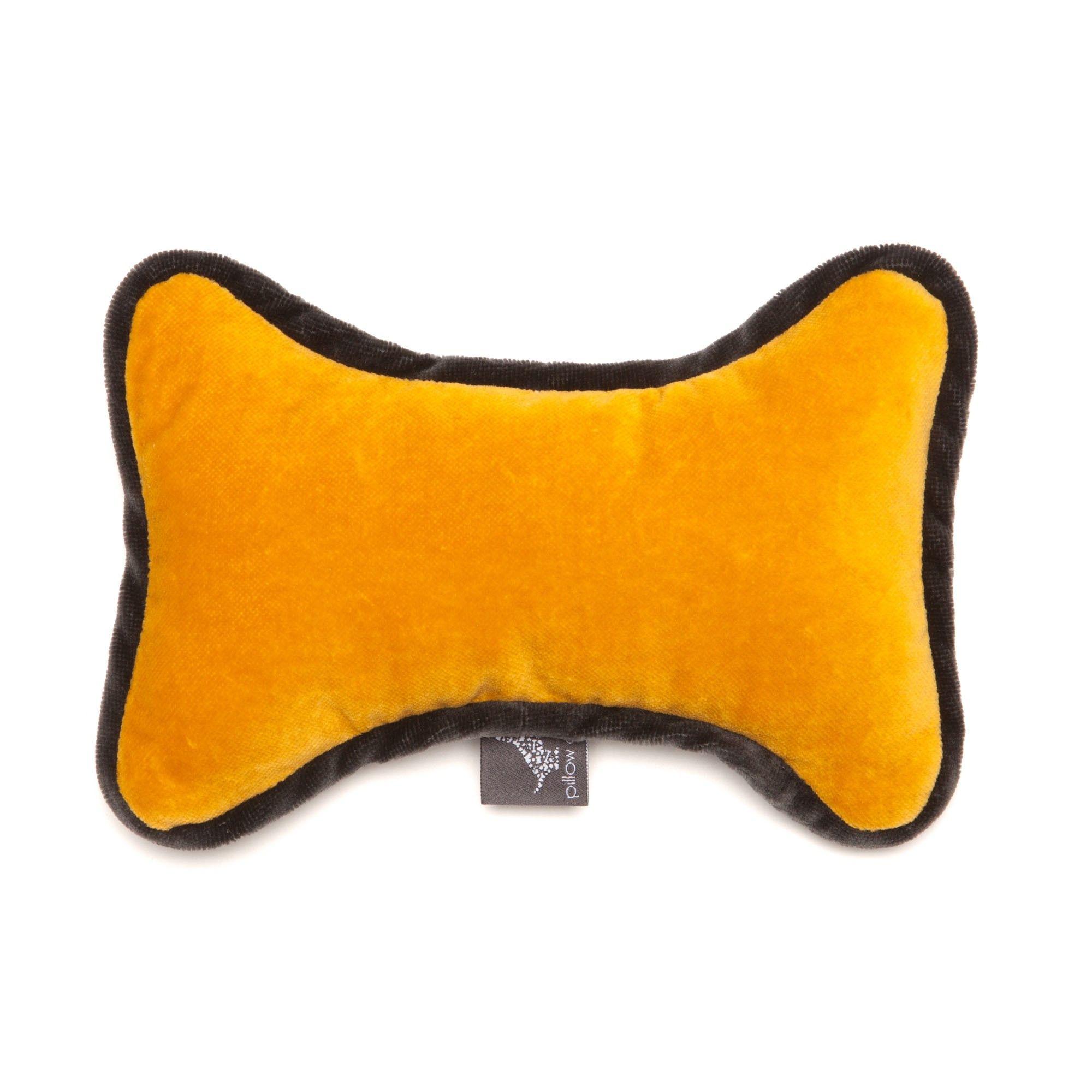 Bone Toy Monogramm Yellow Made Of Dark Gray And Yellow