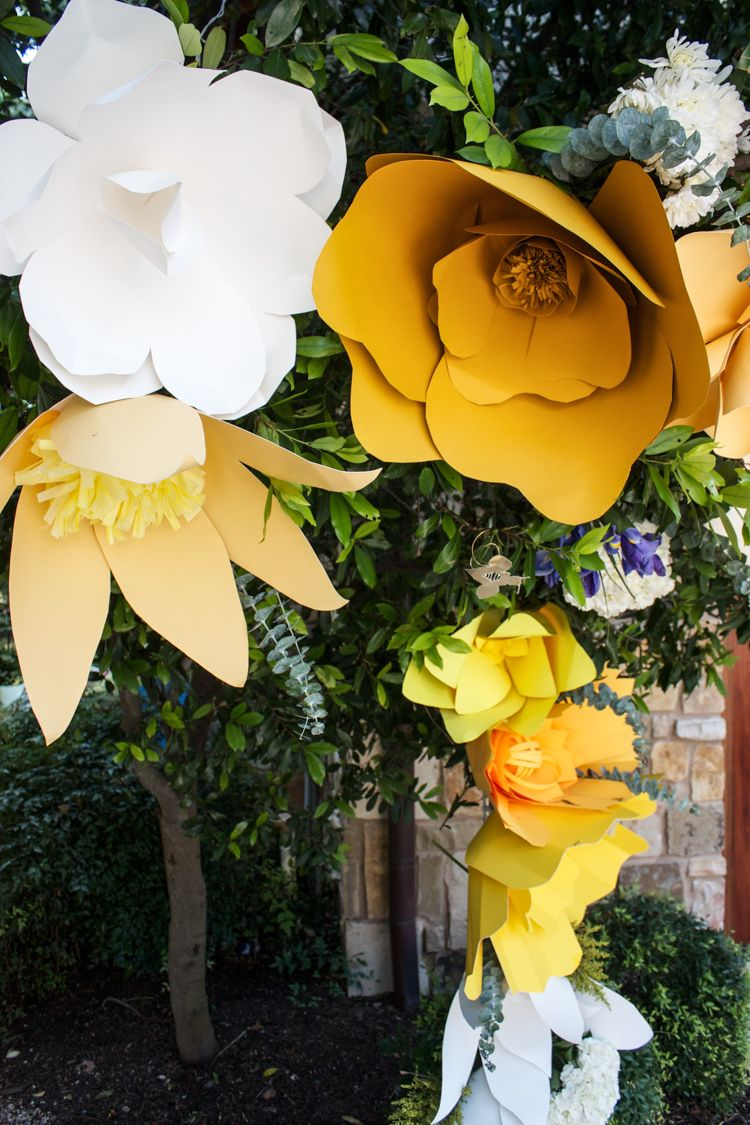 DIY Giant Paper Flower Arch | Arch, Flower and Flowers