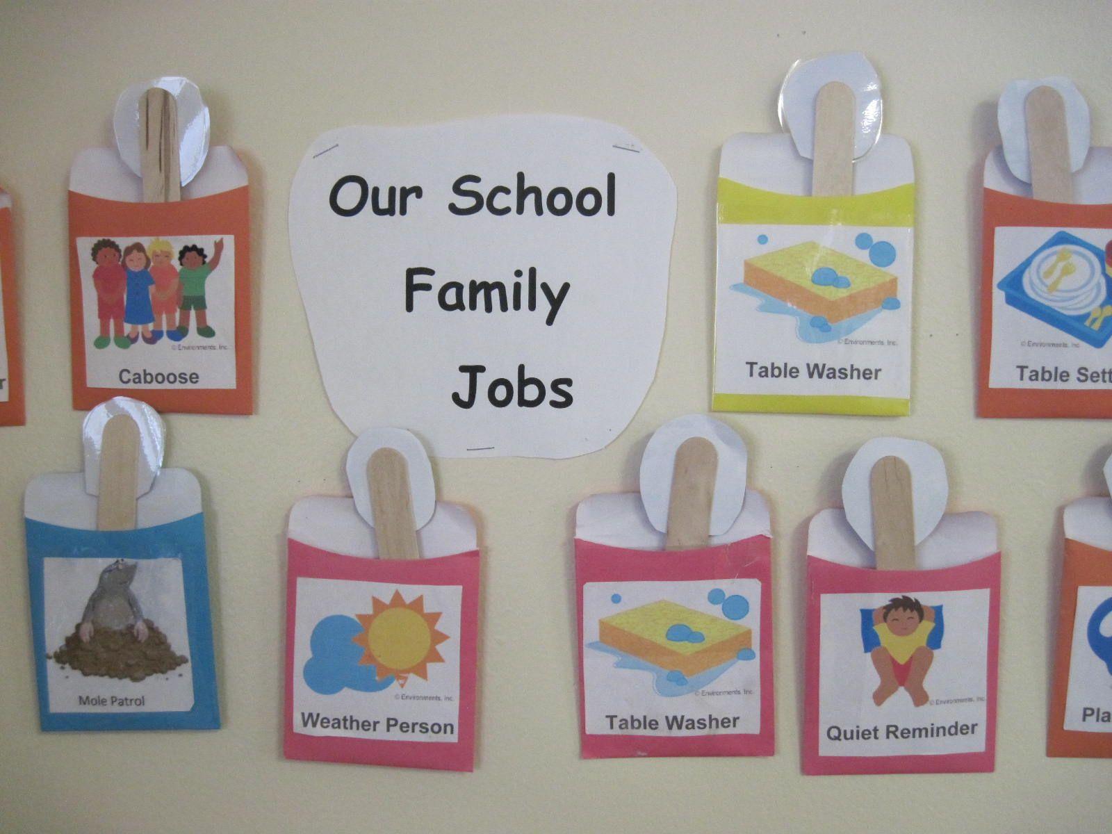 Mrs. Darcey's School Family Jobs Reusable tote, Reusable